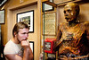 "This is NOT in Pike Brewery!<br /> <br /> Here, in Ye Olde Curiosity Shop, Zac visits with ""Sylvester,"" one of the world's most well-preserved mummies.  Found in 1895 in the Arizona dessert, no one knows who this fellow was.  There is no notation in the store as to when he lived, but from the posted description I take it that he was likely alive shortly before he was found, and that the dessert conditions combined to desiccate and mummify him very shortly after his death of a gunshot wound.  In fact, scientists supposedly have said that bodies can naturally mummify in about 24 hours given the conditions likely prevailing at the time and place of his death.<br /> <br /> For more on Ye Olde Curiosity Shop (in business since 1899), see the following:    <a href=""http://www.yeoldecuriosityshop.com/catalog/yocs-home.php"">http://www.yeoldecuriosityshop.com/catalog/yocs-home.php</a>"