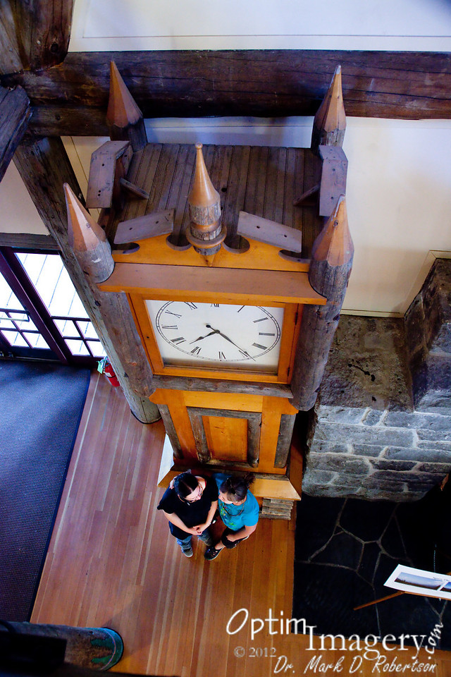 With such a tall grandfather clock, one can see at what time they 'think twice.... (it's just another day in Paradise......)