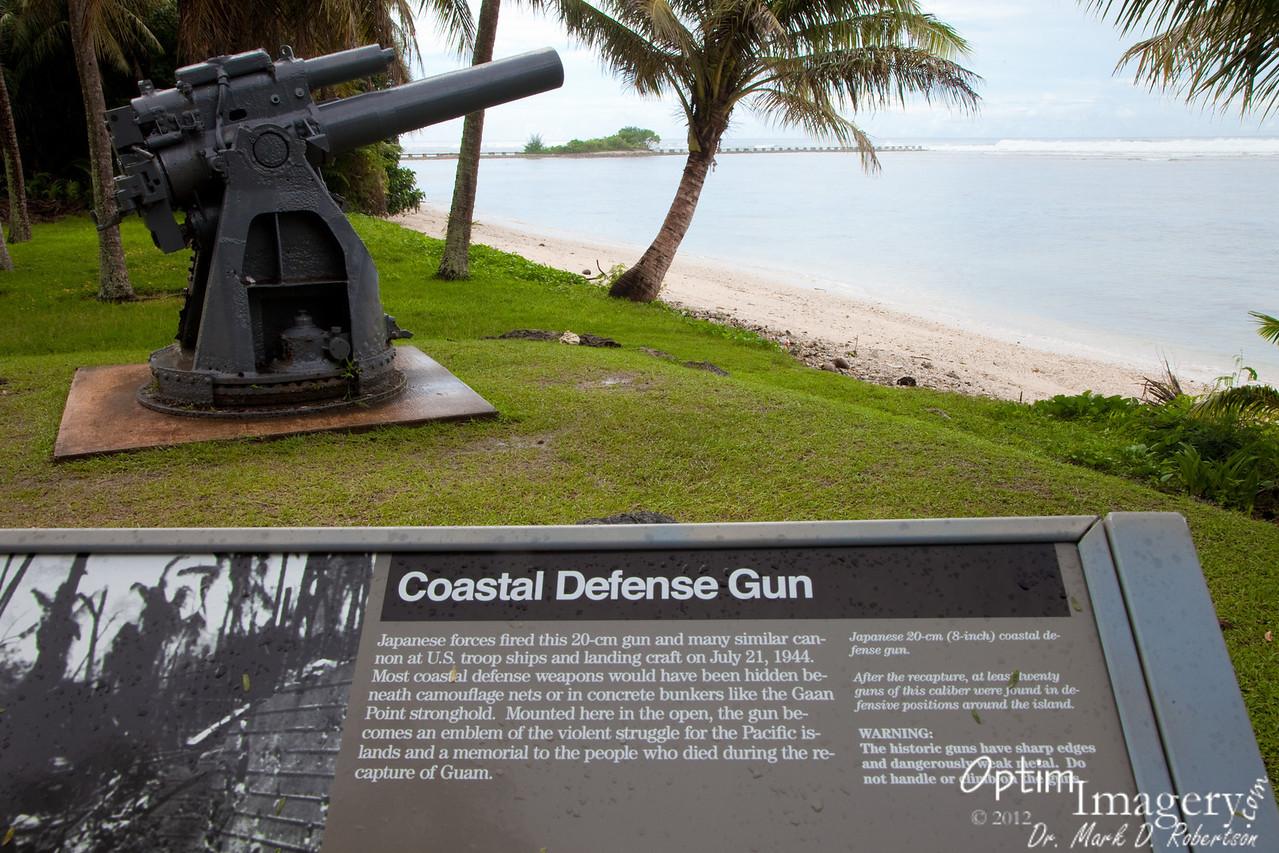 Japanese gun at Ga'an Point.
