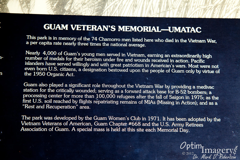 I'm curious as to why Guam would have lost men at a rate three times the national average.  Any thoughts?