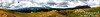 """17-panel panorama from nearly as high as we went (my altimeter said 12,200 feet, if I remember correctly).  Bring the photo up to """"original"""" size for some pretty amazing detail.  Can you find Bri?<br /> <br /> The valley to Fairplay is to your right.  The valley to your left descends toward Breckenridge."""
