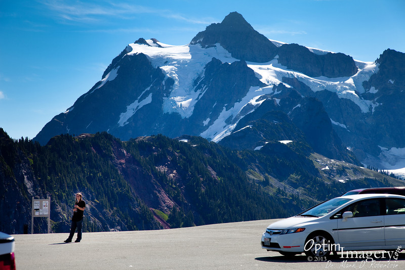 So, from Picture Lake we made our way to the end of the road, at Artist Point Parking Area.  Mount Shuksan towers in the background.