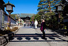 Nagano grew around a Buddhist temple, Zenkō-ji, established in 642.  Here we are entering into the Temple Grounds.