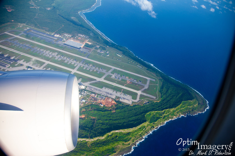 Andersen Air Force Base and Pati Point (Guam).