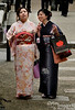 Geisha? Maiko? Or just a couple of Japanese ladies enjoying the day in kimonos?
