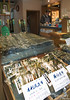 This shop is devoted solely to seaweed, all pressed, dried, and wrapped for sale.