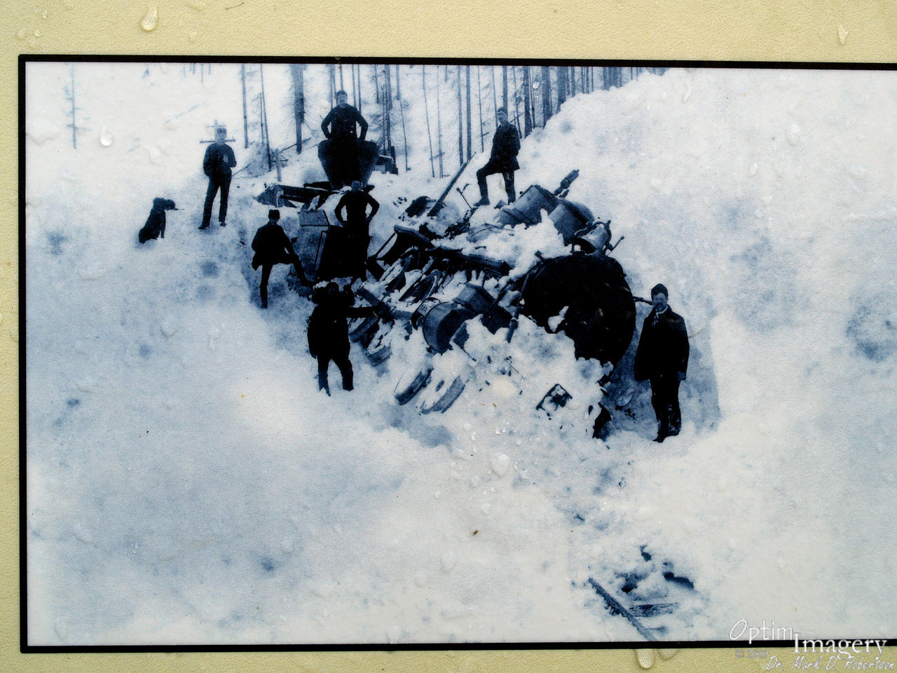 Photo from one of the interpretive signs.  Can you imagine having to dig a steam rail road engine out of the snow like this?