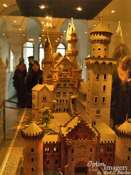 Bri reflects as she gazes at a model of Neuschwanstein (I know, I used that pun in a previous album, but I have only limited brain capacity).