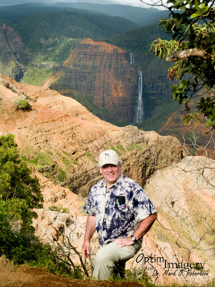 Waipoo Falls from Pu'u Ka Pele Lookout.  Unfortunately, this old goat ain't quite as sure-footed as the last ones you saw.