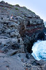 Nice layered cliff.