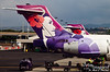 Honolulu airport!  Gotta admit that the insignia on the Hawaiian Air Lines planes are among my favorite.