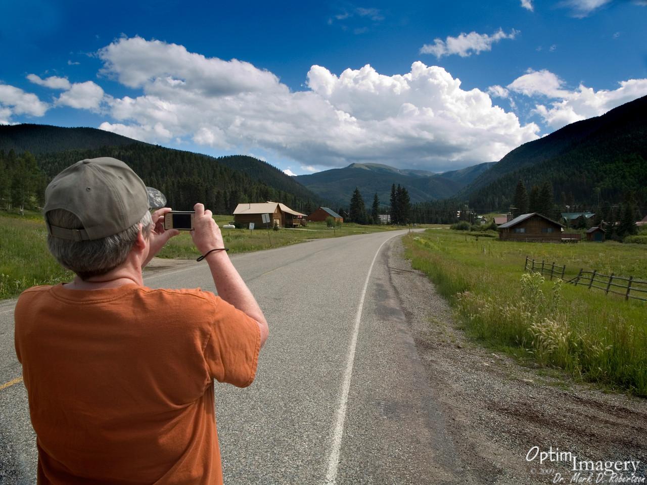 Looking toward Old Mike Peak, in the Wheeler Peak Wilderness Area.