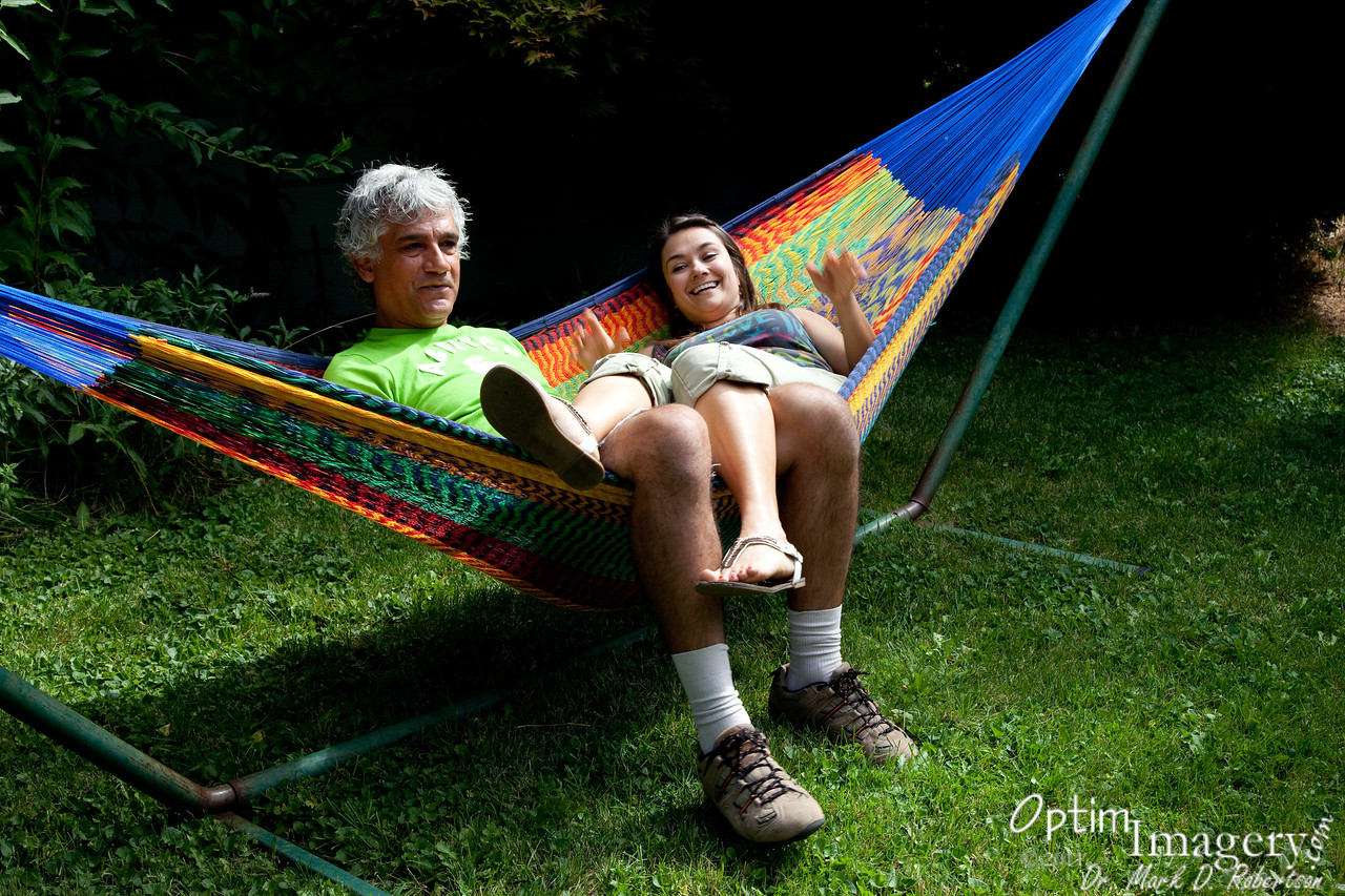 There is more than one way to lie in a hammock.