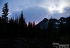 The trail up to Blue Lake is on a west-facing slope, so -- while it was not a spectacularly-colored sunset -- we did get the treat of seeing the sky toward the sunset.