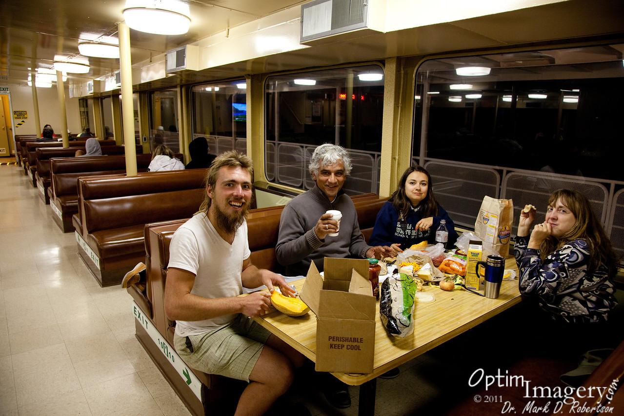 Dinner under sail.