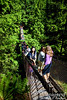 Lynn Canyon Suspension Bridge.  A fun way to traverse 160 feet above the river on the canyon floor.  While it seems quite well-built and safe, it is also enjoyably flexible and it bounces and sways as you walk across.  As you can see, it can hold a lot of people at once!