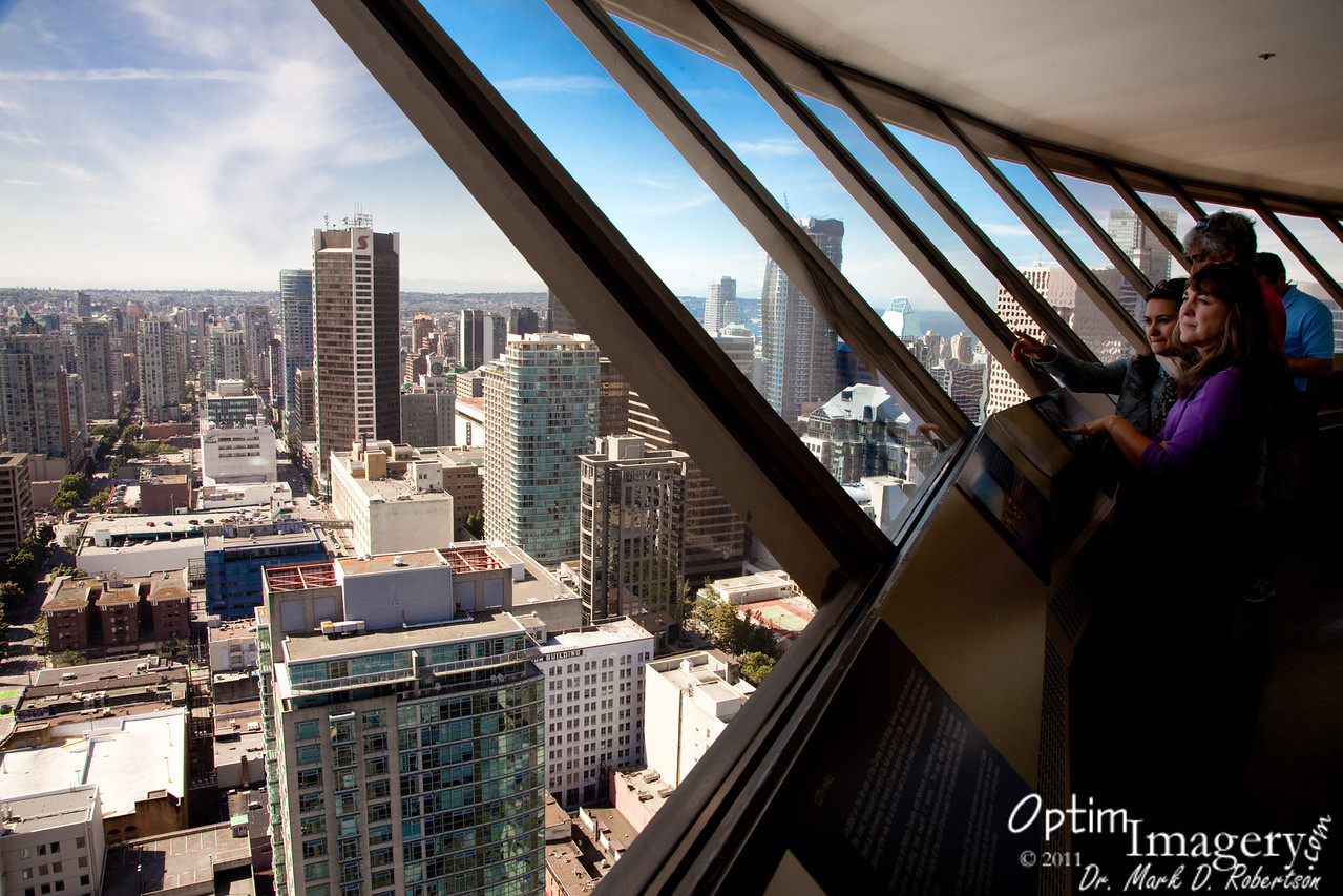 Wonderful views of Vancouver from Harbour Center.