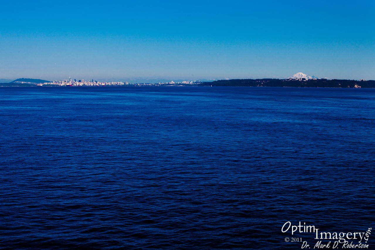 Approaching Vancouver.  You can see Mount Baker to your right.  It's nearly 70 miles from Vancouver to Mount Baker.