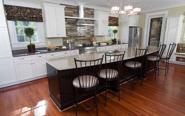 To fit the homeowner's needs, the kitchen was expanded from its original size.