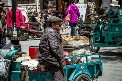 053 Lhasa yam seller © Bickerstaff