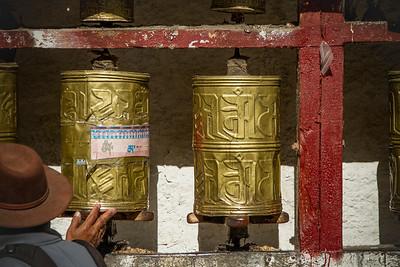 019 Lhasa pray wheels © Bickerstaff