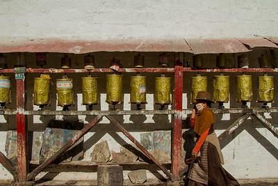 017 Lhasa pray wheels © Bickerstaff