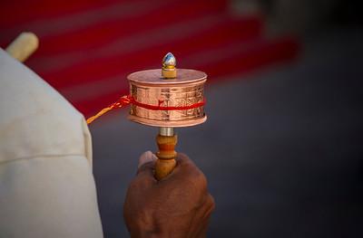 025 Lhasa pray wheel © Bickerstaff