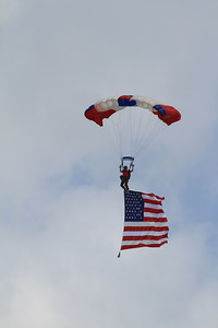 Flag Jump with the American Flag