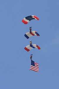 The Flag jump signals the start of the Air Show.