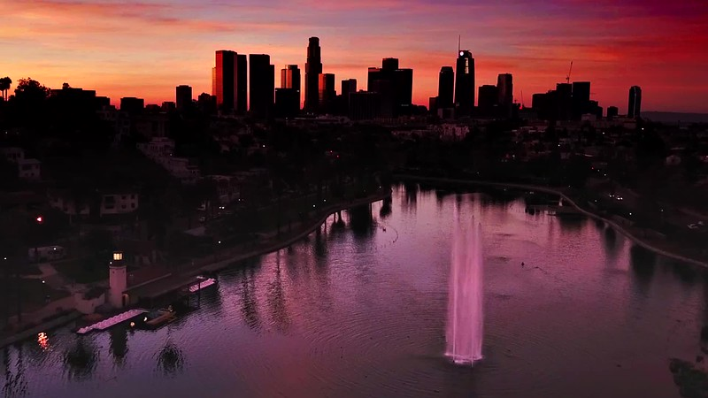 Sunrise in Los Angeles