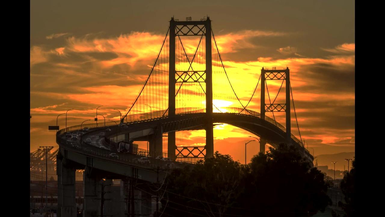 San Pedro Sun Rise with Bridge