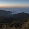 Fog behind mount wilson observatory