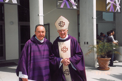 Fr. Mike Ratajczak, Bishop Robert Brom