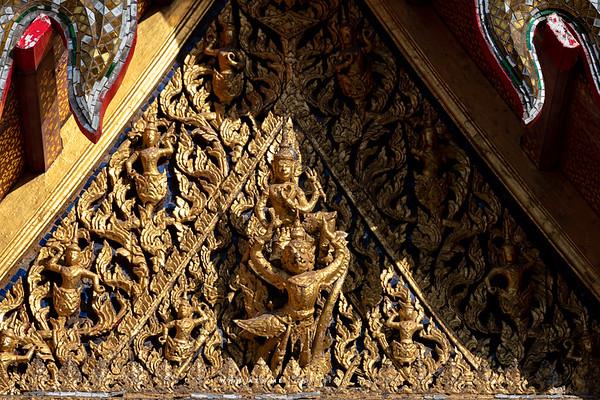 Narayana on Garuda on the Pediment of the Cloisters around Phra Ubosot, Wat Arun (Temple of Dawn)