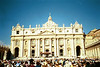 Papal Audience outside St. Peter's Basilica, Rome, with Pope John Paul II,  Wednesday, September 12, 2001.  <br /> He prayed with the world for the United States about the tragedy that had occurred on the prior day.