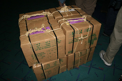 Boxes of food for lunches that we took with us to Seoul and Janji