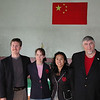 Josh Henkel, Nancy Henkel Jeanie Ahun and Fred Antrobus at the TKD Gyn In Yanbian University, Yanji China