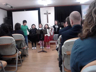 "Childrens program at the church service in Seoul, Korea at ""the Promise"" church"