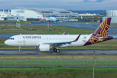 Vistara Airbus A320-251N VT-TNU F-WWIX  11-14-19