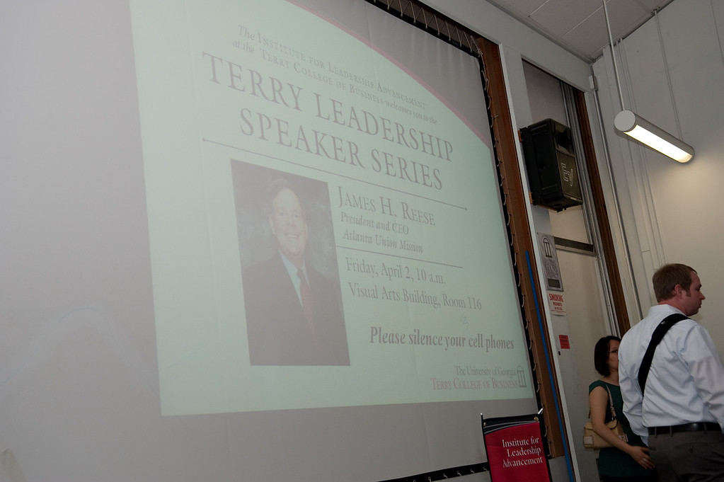 James H. Reese, President & CEO of Atlanta Union Mission.  Terry Leadership Speaker Series.  Institute For Leadership Advancement.