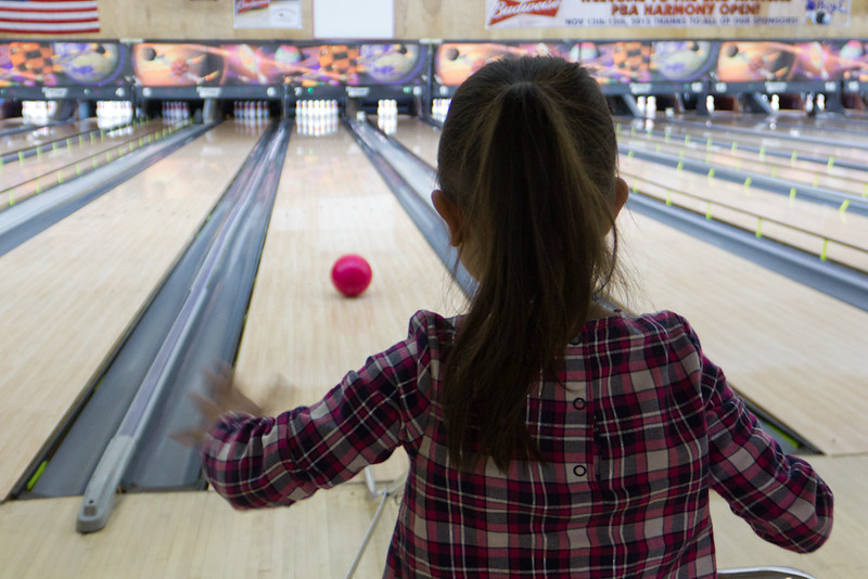 November 8, 2015 - Bowling - Sophie with the roll.