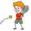 hitting tennis ball with backhand