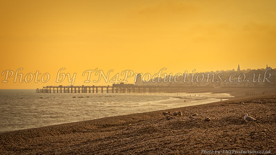 Hastings Pier at Sunset