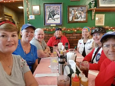 Lunch at Bell Buckle Cafe, Bell Buckle, TN — with Paula Jernigan Steele, Donna Thompson, Schelley Brown Francis, Glen Mize, Tammy Jenkins and Karrie L. Spooner.