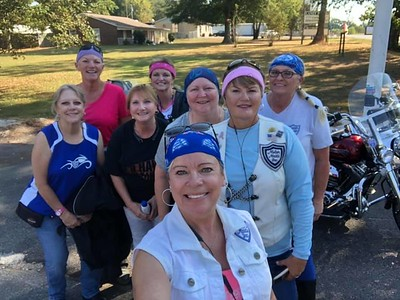 Ok ...... our trip begins!!!!! 8 of us girl met up in Ardmore to head to the 2nd annual Women Rock Rally 2019 being hosted at the Bumpus Harley-Davidson of Murfreesboro, TN. What a fun filled weekend ahead of us!!! — with Vickie Meader, Sue Rhiney Nichols, De Frevold, Judy Logan, Donna Thompson, Paula Jernigan Steele and Deb Fillingim. and Pam Radford