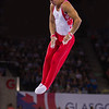 High Bar Action for Canadian Athlete