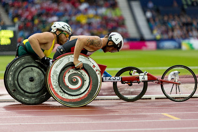 Wheelchair Racing at it's best.