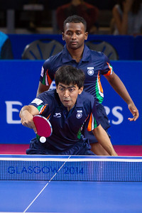 Team play in Table Tennis, Glasgow.
