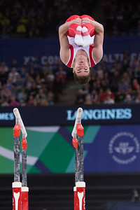 Canadian on Parallel Bars Glasgow