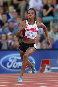 Canadian Runner during Competition